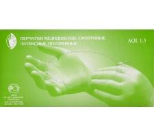 Перчатки латексные диагностические н/с, ОПУДРЕННЫЕ Wear Safe 100шт/уп