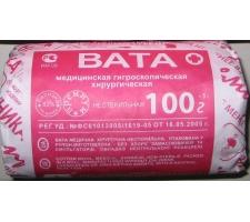 """Вата хирургическая стерильная 100 гр. ГОСТ, """"НИКА"""" Розовый фламинго"""