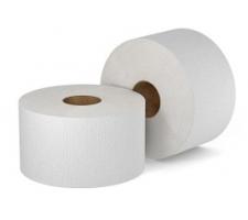 Туалетная бумага в рулоне мини 150 м / ширина 9,7 см / втулка 6 см / 2-сл. (целлюлоза), Россия (х12 рул/тр. кор.)