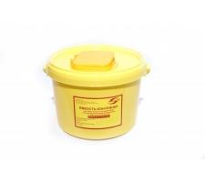 """Емкость-контейнер для сбора острого-инструментария 3л , класс """"Б"""" (цв. жёлтый), """"МедКом"""" (х60)"""