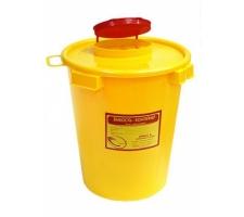 """Емкость-контейнер для сбора острого-инструментария 1,5л , класс """"Б"""" (цв. жёлтый), """"МедКом"""" (х100)"""