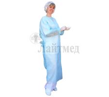 """Халат хирург. н/стер. 140см, пл. 25 гр., """"Инмедиз"""" (на резинке)"""