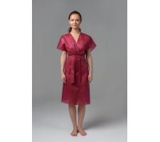 Халат-кимоно без рукавов бордовый