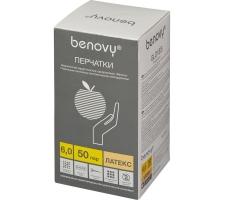 Перчатки латексные хирургические стерильные неопудренные Benovy