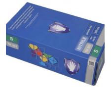 Перчатки нитриловые Safe & Care 200шт/уп н/с н/о с текст. на пальцах