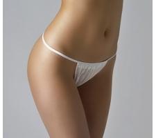 Трусики бикини женские (материал: спанбонд, цв. белый), 25 шт/уп