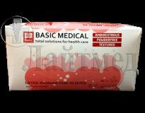 Перчатки латексные смотровые н/с н/о текстурированные BАSIC EXAM PF 100шт/уп