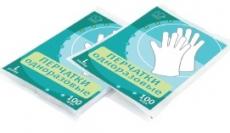 Перчатки одноразовые полиэтиленовые 100 шт/уп