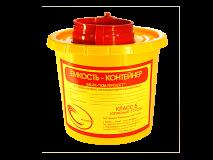 """Контейнер для сбора острого-инструментария ЕК-01 """"КМ-Проект"""" 0,5 л, класс """"Б"""", (цв. жёлтый)"""
