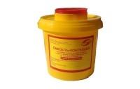 """Емкость-контейнер для сбора острого-инструментария 2л , класс """"Б"""" (цв. жёлтый), """"МедКом"""""""