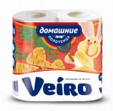 """Полотенца бумажные в рулоне 2-х сл. """"LINIA VEIRO"""" Домашние"""