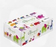 """Салфетки бумажные в картонной коробке, """"Flowerway"""" 2-сл, 200 листов/уп"""