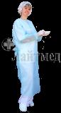 "Халат хирург. стер. 140см, пл. 25 гр., ""Инмедиз"" (на резинке)"