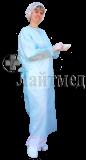 """Халат хирург. н/стер. """"Евро"""" 140см, пл. 25 гр., """"Инмедиз"""" (на манжете)"""