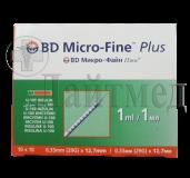 "Шприц (3-х комп) 1мл инсулин. U-100 с интегрир. иглой G29 (0,33х12,7), ""BD"""