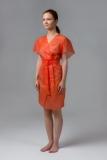 Халат-кимоно без рукавов оранжевый