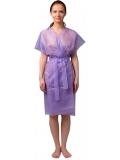 Халат-кимоно без рукавов сиреневый