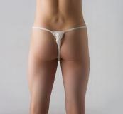 Трусики бикини мужские (материал: спанлейс, цв. белый), 25 шт/уп